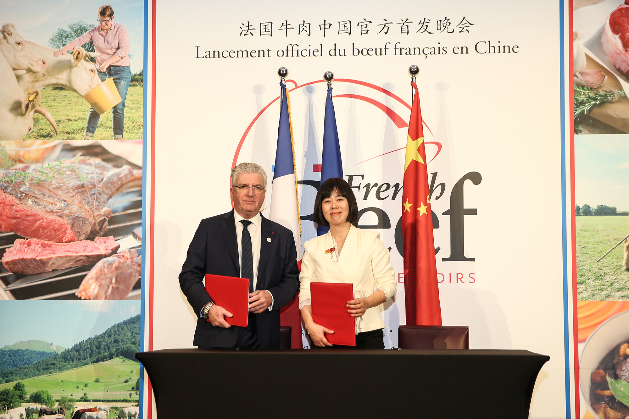 鲜嫩多汁的法国牛肉中国市场首发